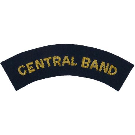RAuxAF Regiment Epaulette Slide Black On Stone  Embroidered Air Force Branch Badge