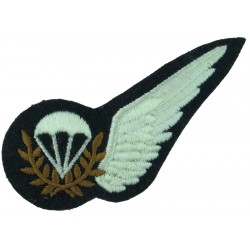 RAF Brevet - Parachute Jump Instructor Half-Wing Large Parachute  Embroidered Air Force Branch Badge