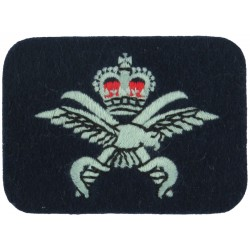 RAF Physical Training Instructor: Crown/Eagle/Swords On Dark Blue Post-72 with Queen Elizabeth's Crown. Embroidered Air Force Br