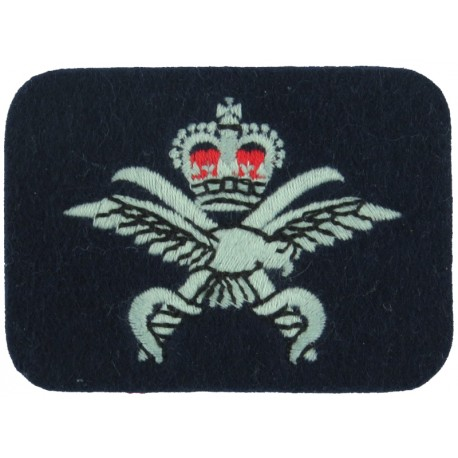 Royal Observer Corps Group 21 (Preston & Isle Of Man On Dark Blue Post-72 Embroidered Royal Observer Corps insignia