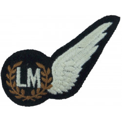 RAF Brevet - LM (Air Load Master) Half-Wing Padded  Embroidered Air Force Branch Badge