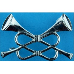 RAF Band - Crossed Trumpets - Trumpeter   Chrome-plated Air Force Branch Badge