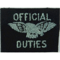 Royal Observer Corps - Shoulder Title On Dark Blue Post-72  Embroidered Royal Observer Corps insignia