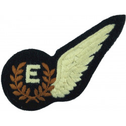RAF Brevet - E (Engineer) Half-Wing Padded  Embroidered Air Force Branch Badge