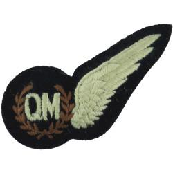RAF Brevet - QM (Air Quartermaster) Half-Wing Padded  Embroidered Air Force Branch Badge