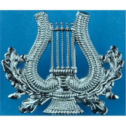 RAF Band - Lyre Without Crown - Musician   Chrome-plated Air Force Branch Badge