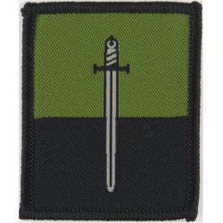 Princess Of Wales's Royal Regiment (Tiger On Blue Rectangle) Merrowed Woven Regimental cloth arm badge