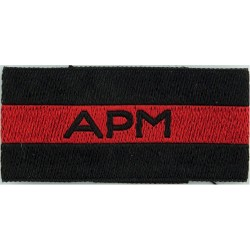 APM (RAF Assistant Provost Marshal) Black/Red/Black Slip-On  Woven Air Force Branch Badge