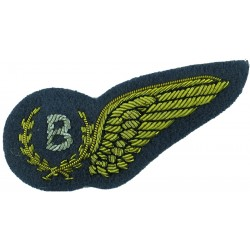 RAF Brevet - B (Bomb Aimer) Half-Wing Mess Kit  Bullion wire-embroidered Air Force Branch Badge