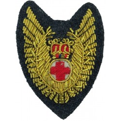 Royal Air Force Flight Nursing Officer Wings Red Cross With Crown with Queen Elizabeth's Crown. Bullion wire-embroidered Air For