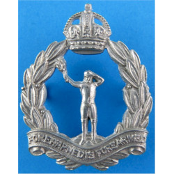 Royal Observer Corps - 1941-1952 Other Ranks with King's Crown. White Metal Royal Observer Corps insignia