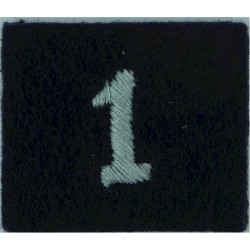 Royal Observer Corps Group 1 (Maidstone) On Dark Blue Post-72  Embroidered Royal Observer Corps insignia