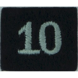 Royal Observer Corps Group 10 (Exeter) On Dark Blue Post-72  Embroidered Royal Observer Corps insignia