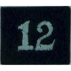 Royal Observer Corps Group 12 (Bristol & Bath) On Dark Blue Post-72  Embroidered Royal Observer Corps insignia