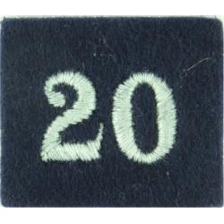 Royal Observer Corps Group 20 (York) On Dark Blue Post-72  Embroidered Royal Observer Corps insignia