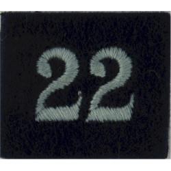 Royal Observer Corps Group 22 (Carlisle) On Dark Blue Post-72  Embroidered Royal Observer Corps insignia