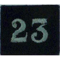 Royal Observer Corps Group 23 (Durham) On Dark Blue Post-72  Embroidered Royal Observer Corps insignia