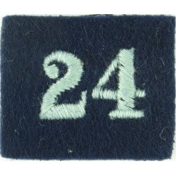 Royal Observer Corps Group 24 (Edinburgh & Turnhouse On Dark Blue Post-72  Embroidered Royal Observer Corps insignia
