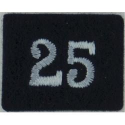 Royal Observer Corps Group 25 (Ayr & Prestwick) On Dark Blue Post-72  Embroidered Royal Observer Corps insignia