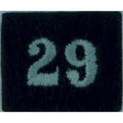Royal Observer Corps Group 29 (Aberdeen Orkney Shetl On Dark Blue Post-72  Embroidered Royal Observer Corps insignia