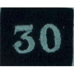 Royal Observer Corps Group 30 (Inverness) On Dark Blue Post-72  Embroidered Royal Observer Corps insignia