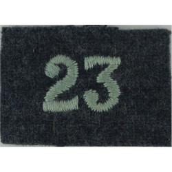 Royal Observer Corps Group 23 (Durham) On RAF Blue-Grey  Embroidered Royal Observer Corps insignia
