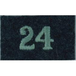 Royal Observer Corps Group 24 (Edinburgh & Turnhouse On RAF Blue-Grey  Embroidered Royal Observer Corps insignia