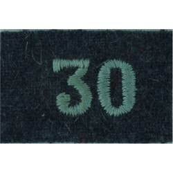 Royal Observer Corps Group 30 (Inverness) On RAF Blue-Grey  Embroidered Royal Observer Corps insignia