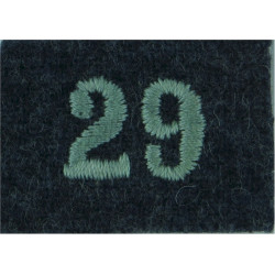 Royal Observer Corps Group 29 (Aberdeen Orkney Shetl On RAF Blue-Grey  Embroidered Royal Observer Corps insignia