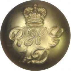 Blues And Royals (Royal Horse Guards & 1st Dragoons) 16.5mm with Queen Elizabeth's Crown. Gilt Military uniform button