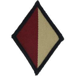 Cheshire Regiment (Cerise/Buff Diamond) Introduced 2002  Woven Regimental cloth arm badge