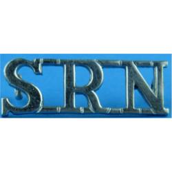 SRN (State Registered Nurse) Shoulder Title  Chrome-plated Ambulance Insignia