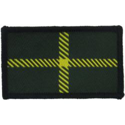 Highlanders - Gordon Tartan - Dark Green See SOLDIER 26May97  Woven Regimental cloth arm badge