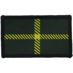 Royal Scots Dragoon Guards (Yellow Zig-Zag On Blue) Embroidered Regimental cloth arm badge
