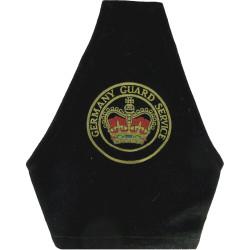 Germany Guard Service Brassard Words Around Crown with Queen Elizabeth's Crown. Embroidered Arm-Band or Brassard