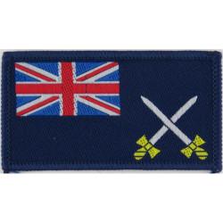 Joint NBC Regiment (Mixed RAF & Royal Tank Regiment) Green On Olive Embroidered Regimental cloth arm badge