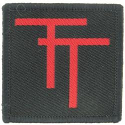 Tyne Tees Regiment (Red TT On Black) Also Durham ACF  Woven Regimental cloth arm badge