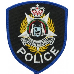 Australia: Western Australia Police Old Type with Queen Elizabeth's Crown. Embroidered Overseas Police, Prison or Corrections in
