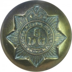 5th Dragoon Guards (Princess Charlotte Of Wales's) 19mm - 1901-1922 with King's Crown. Brass Military uniform button