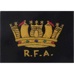 Royal Fleet Auxiliary Blazer Badge RFA Below Crown  Bullion wire-embroidered Military Blazer Badge