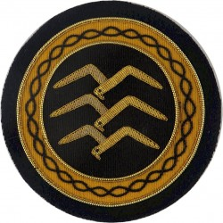 FAI Gliding Commission Gold Badge 3 Birds In Circle  Bullion wire-embroidered Military Blazer Badge