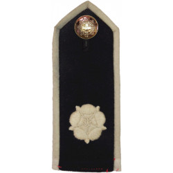 Coldstream Guards Shoulder Board(From Scarlet Tunic) White Rose  Embroidered Sew-on Army cloth shoulder title