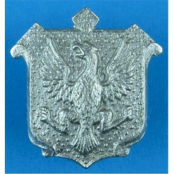 East Riding Of Yorkshire Constabulary Collar Badge Eagle FL On Shield  Chrome-plated UK Police or Prison insignia