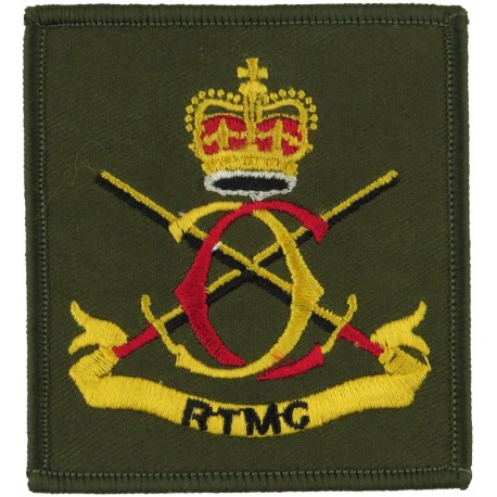 Royal Welch Fusiliers (Rampant Black Dragon On Olive Green Rectangle)  Embroidered Regimental cloth arm badge