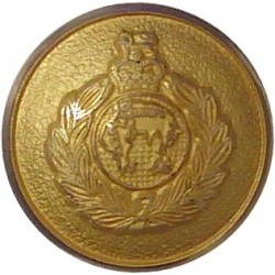 Royal Marines Blazer Button 15.5mm with Queen Elizabeth's Crown. Gilt Military uniform button