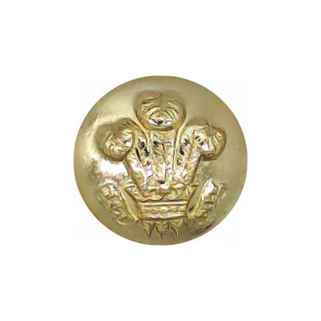 Royal Hussars (Prince Of Wales's Own) - Not Indented 13mm - Gold Colour  Anodised Staybrite military uniform button