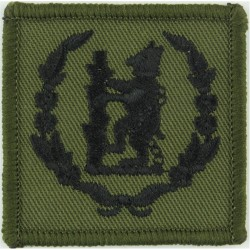 Green Howards (Green/White/Green) Bosnia Issue Embroidered Regimental cloth arm badge