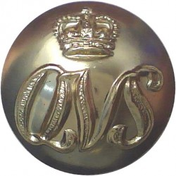 Queen Victoria School: Dunblane: Scotland 17mm Gold Colour with Queen Elizabeth's Crown. Anodised Staybrite military uniform but