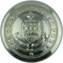 Southport Borough Police 17mm - Pre-1969  Chrome-plated Police or Prisons uniform button