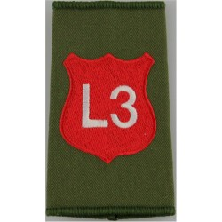 Infantry Training Centre Catterick: Light Div 3 Pl Post-2003  Embroidered Slip-on Army cloth shoulder title
